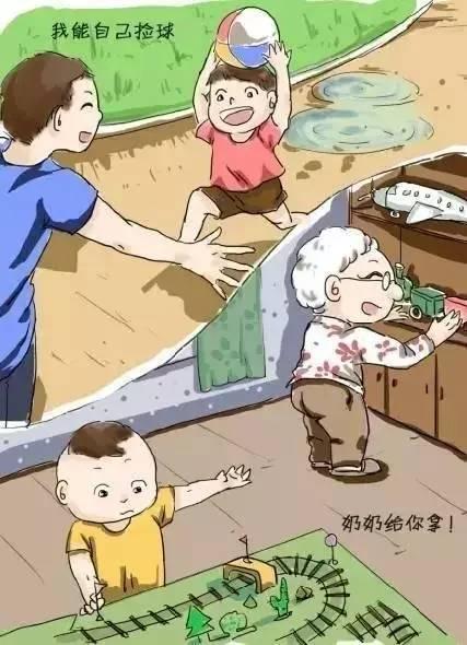育儿知:10张漫画提醒您:别替孩子成长!