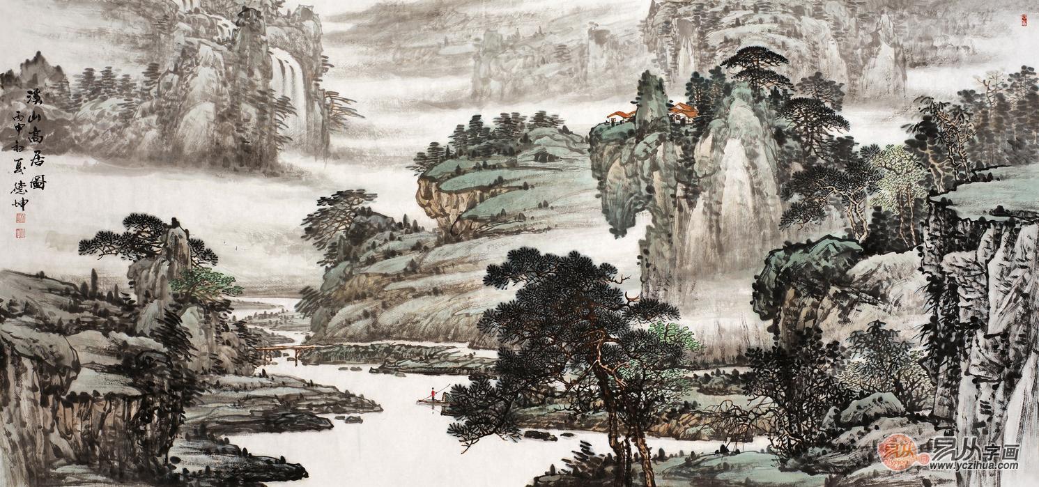 当代画家林德坤山水画 遒劲有力水墨古韵