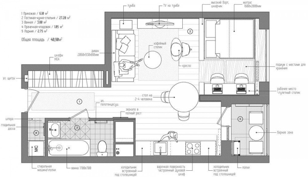 房子所有房间平面图