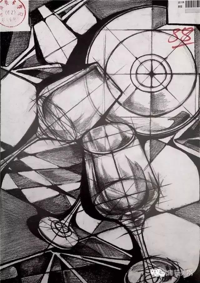 图|2016年 川美设计素描高分卷图片