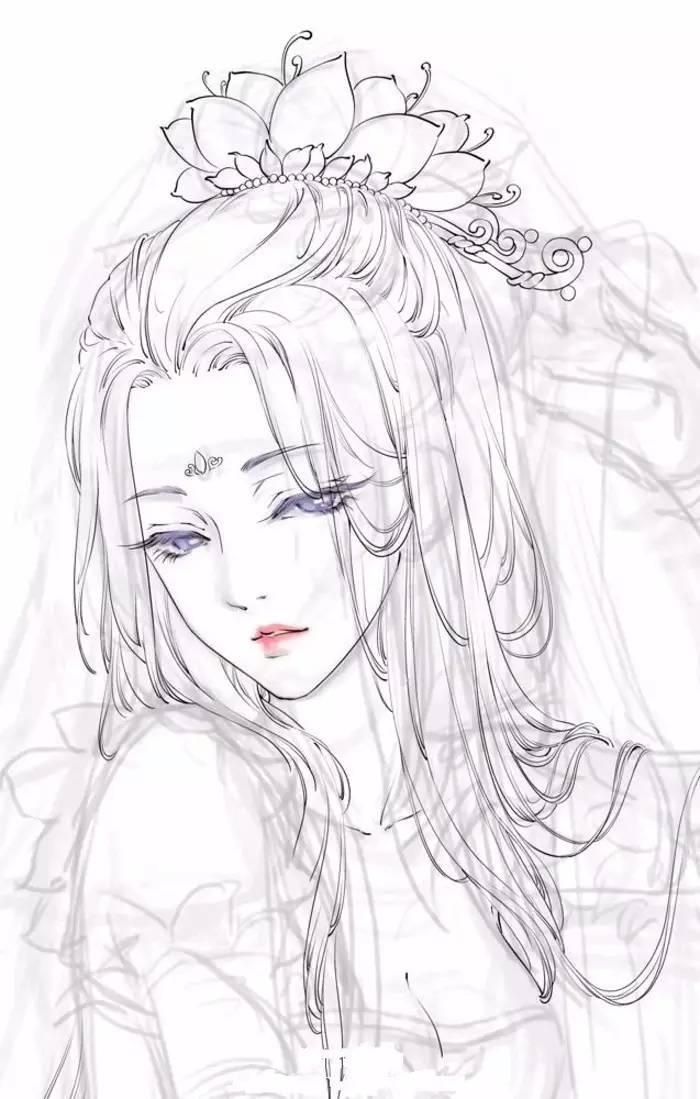 素描古风线稿-搜狐