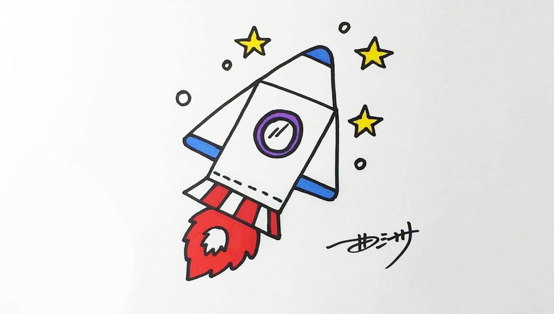 画卡通 幼儿的简笔画系列 神舟飞船