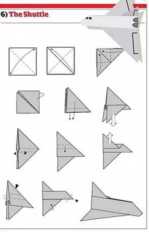 12种折折纸飞机详细教程,满足小朋友放飞花样飞机的愿望图片
