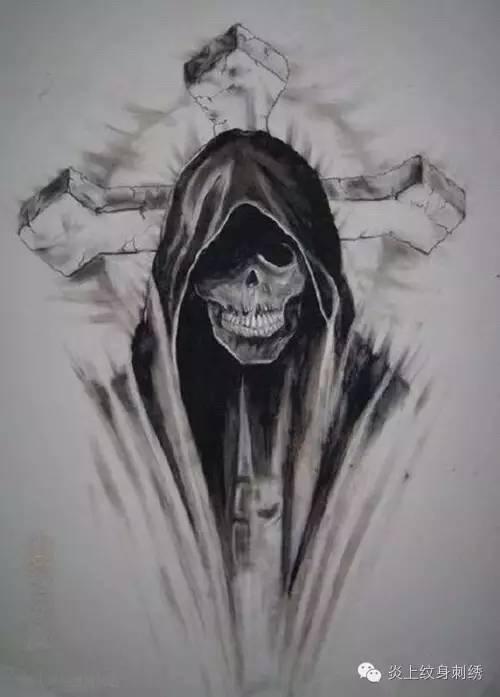 死神纹身手稿