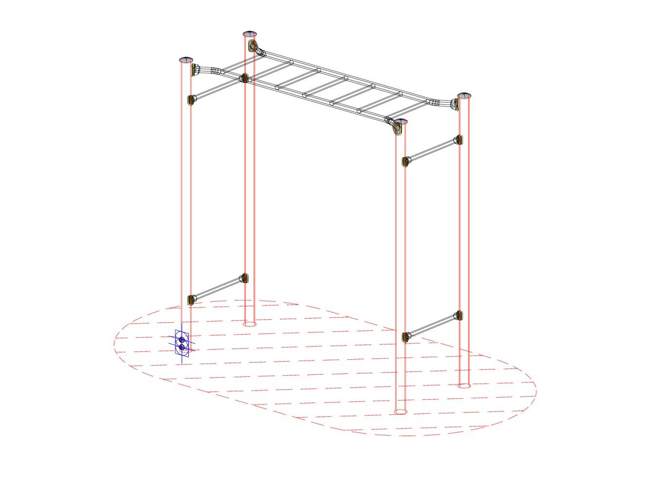阳台晾衣架cad平面图