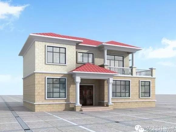 120平方二层农村自建房设计图纸14米x9米造价20万