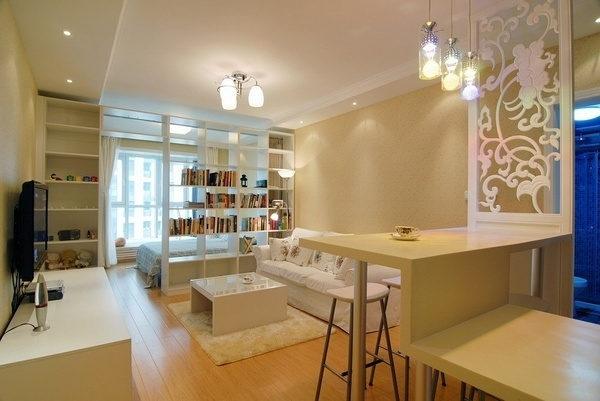 温馨时尚家居,小户型装修现代简约风格实景图图片