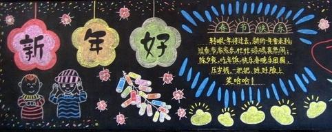 黑板报花边纹样设计1000例 元旦黑板报
