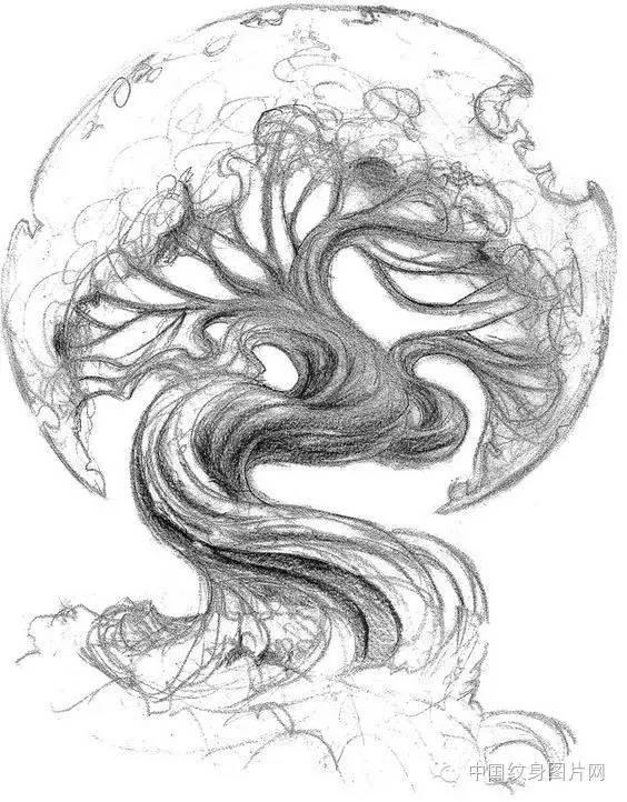 纹身素材:菩提树