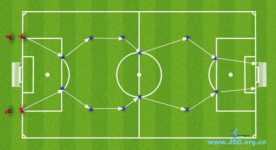【教练角】足球身体素质训练:变向折线跑(8岁