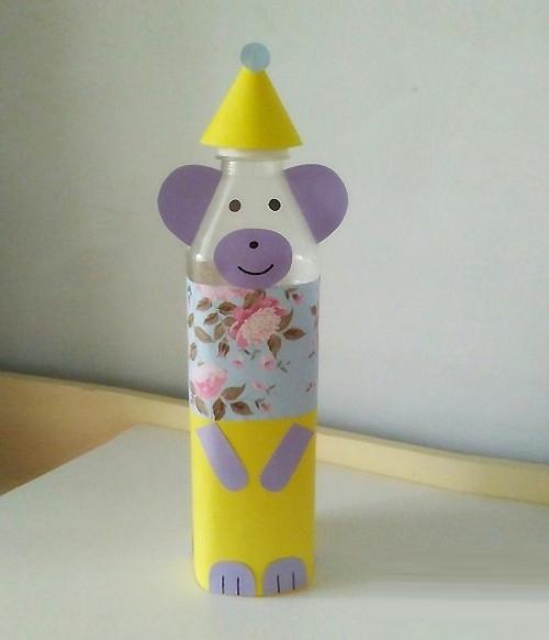diy矿泉水瓶手工制作有趣的小熊摆件做法