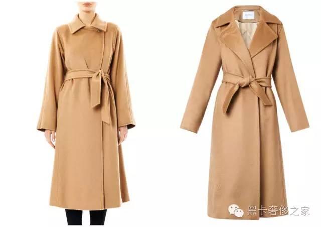 manuela大衣还有一个标志性特征,就是领子扣起来和放下来是截然不同图片