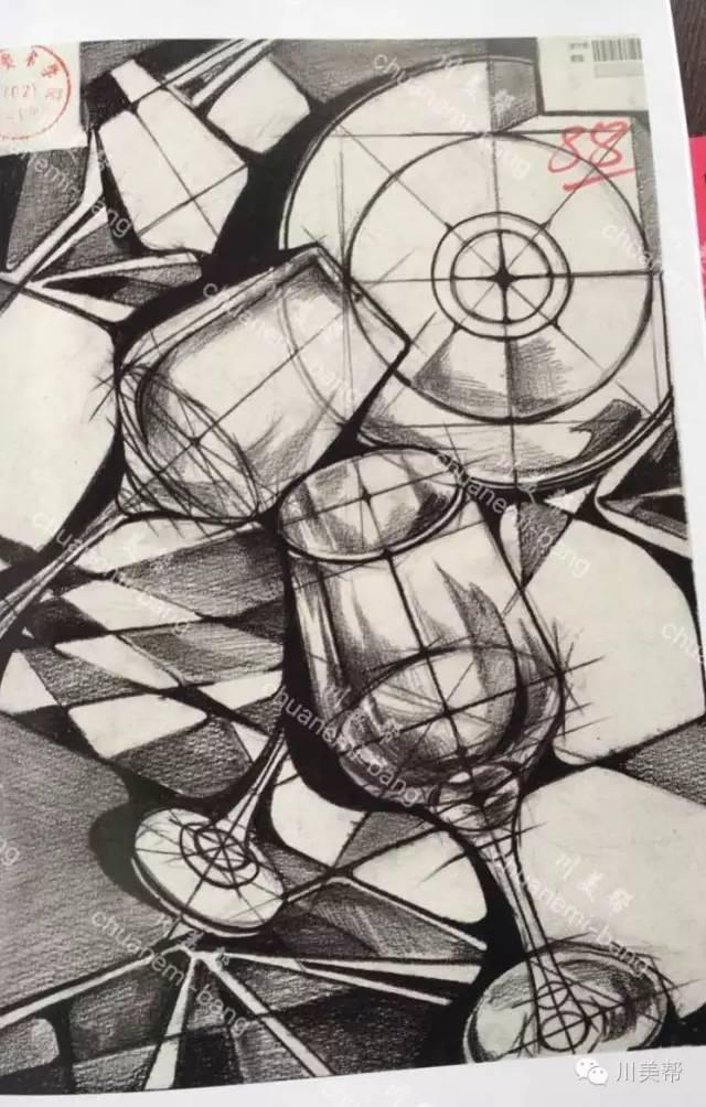 2016年川美高分卷 设计素描图片