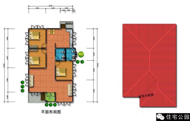 2套一层小平房,8米多宽,舒适省钱!含3d展示