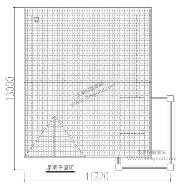 农村二层别墅设计图,11.3X12.4米富有个性
