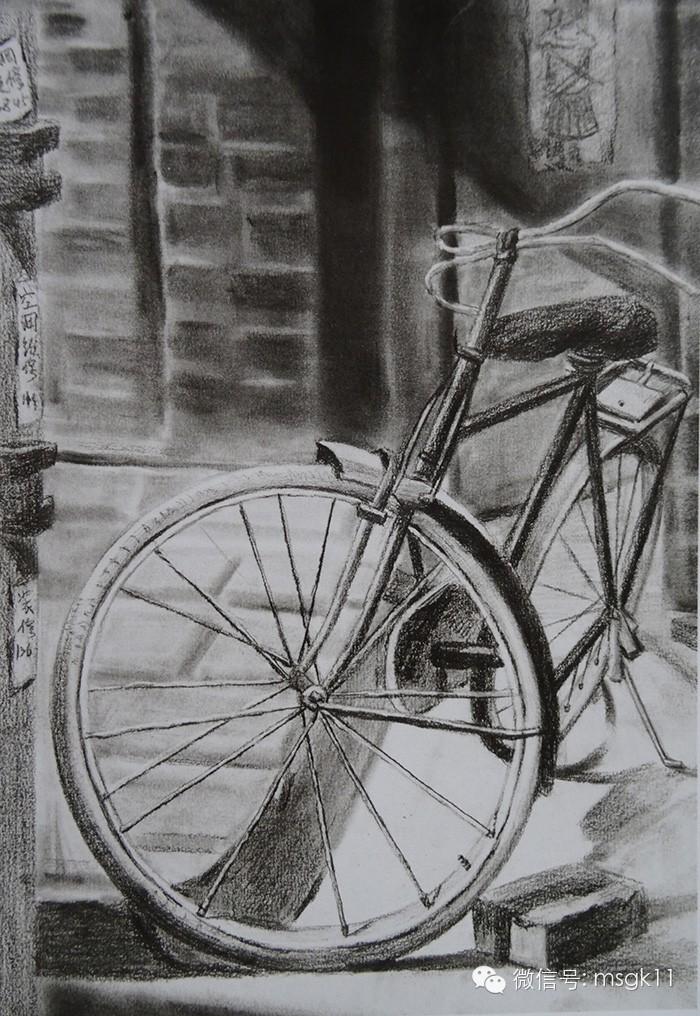 自行车设计素描_自行车设计素描结构图