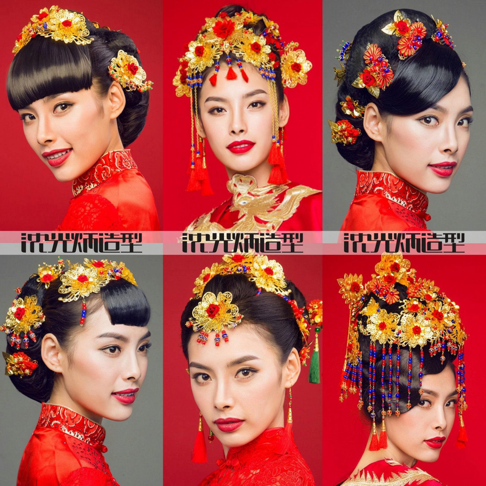 沈光炳造型-韩式新娘发型中式秀禾服化妆新娘造型