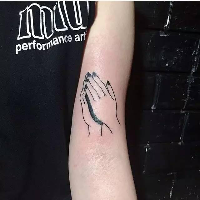 纹身素材 hanbee 黑白纹身素材 小清新极简纹身图片