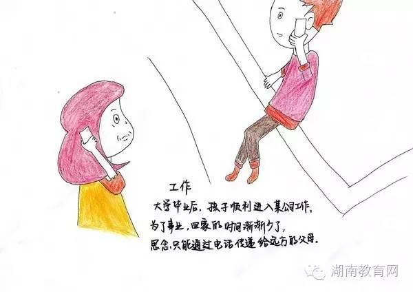 长沙医学院学子手绘成长图感恩父母,你的感恩节怎样度过?