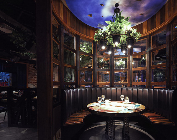 民风餐厅-合肥特色主题餐厅餐饮店装修设计 震撼的视觉感受图片