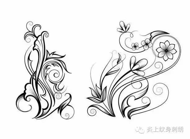 纹身|藤蔓手稿