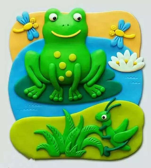橡皮泥手工制作小动物青蛙