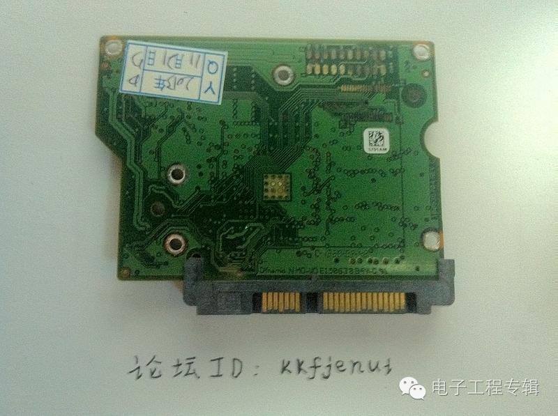 6,此面可以看到主控芯片,次控芯片,高速缓存flash