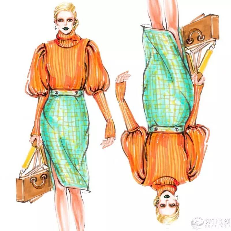 [原创设计稿] 马克笔时装手绘 | hg时装插画