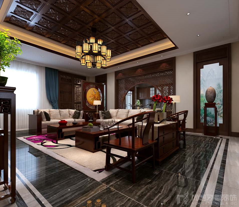 别墅室内设计-四合院新中式风格v别墅案例做景观设计需要看什么书图片