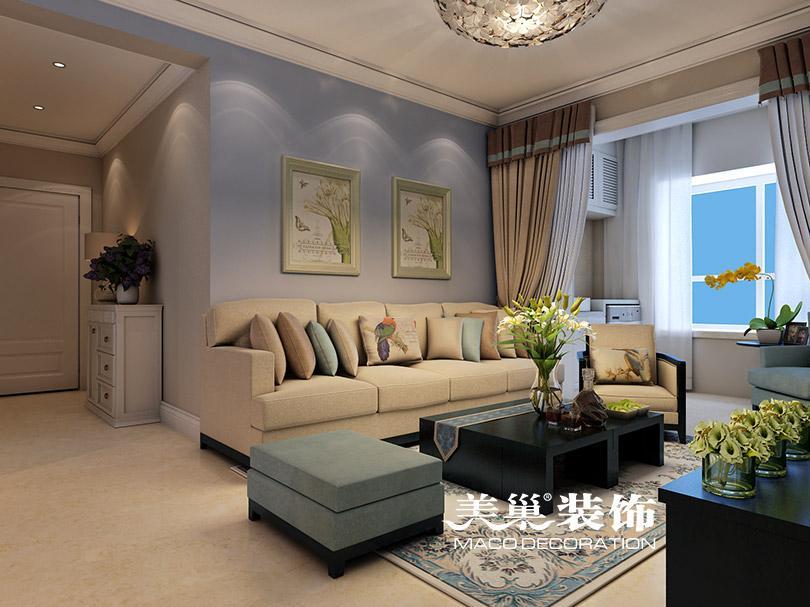 两室两厅装修效果图 实用性北欧 美巢装饰:135-9267-4700 量房/做预算