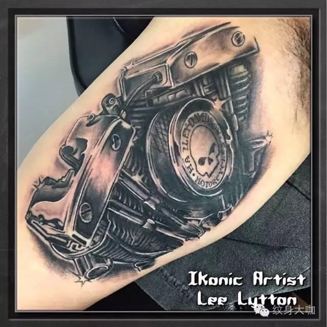 纹身素材:机车
