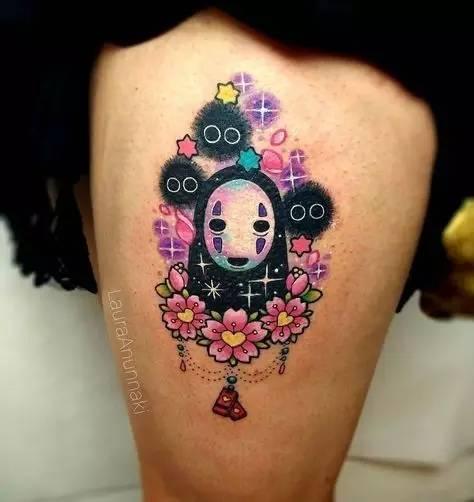 头像系的纹身艺术的少女头像蜜女生好看闺卡通图片