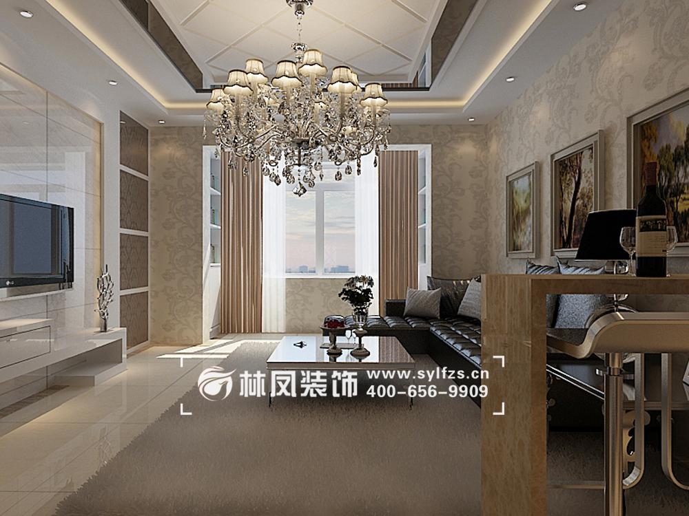 碧桂园凤凰城103平简欧风格装修效果图图片