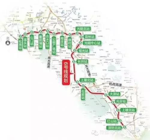 在荔林站预留衔接东莞r1线的条件.    未来可坐地铁去东莞!
