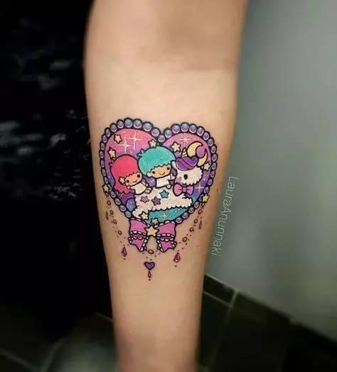 少女系的纹身艺术联想女生用图片