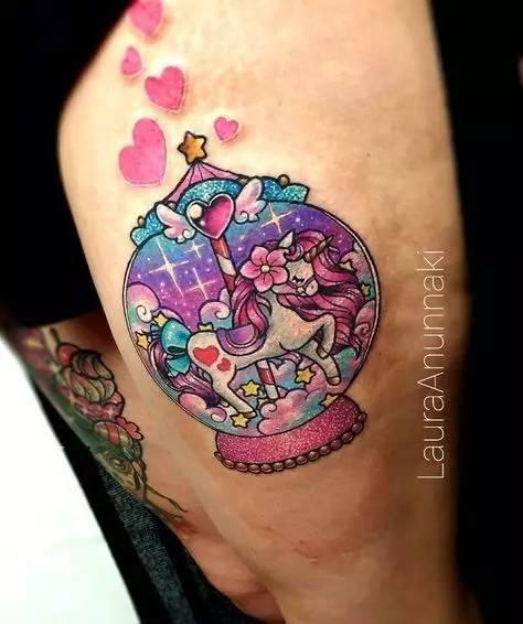 半边系的纹身艺术少女女生图片手脸遮图片
