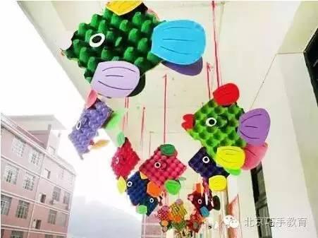 幼儿园环境创设——走廊吊饰 | 巧手教育图片