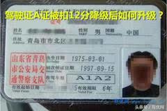 驾驶证A证被扣12分降级后如何升级