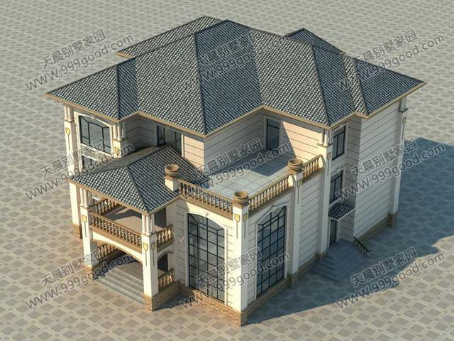 农村三层别墅设计图,简欧造型,经典大气