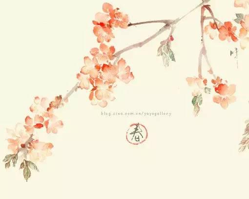 关于古风与古典之美的花朵人物手绘插画图片图片