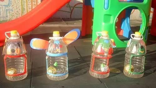 幼儿园废旧瓶子创意手工环创布置