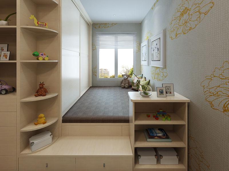三居室14㎡次卧空间,1房变3房使用率超100%.图片