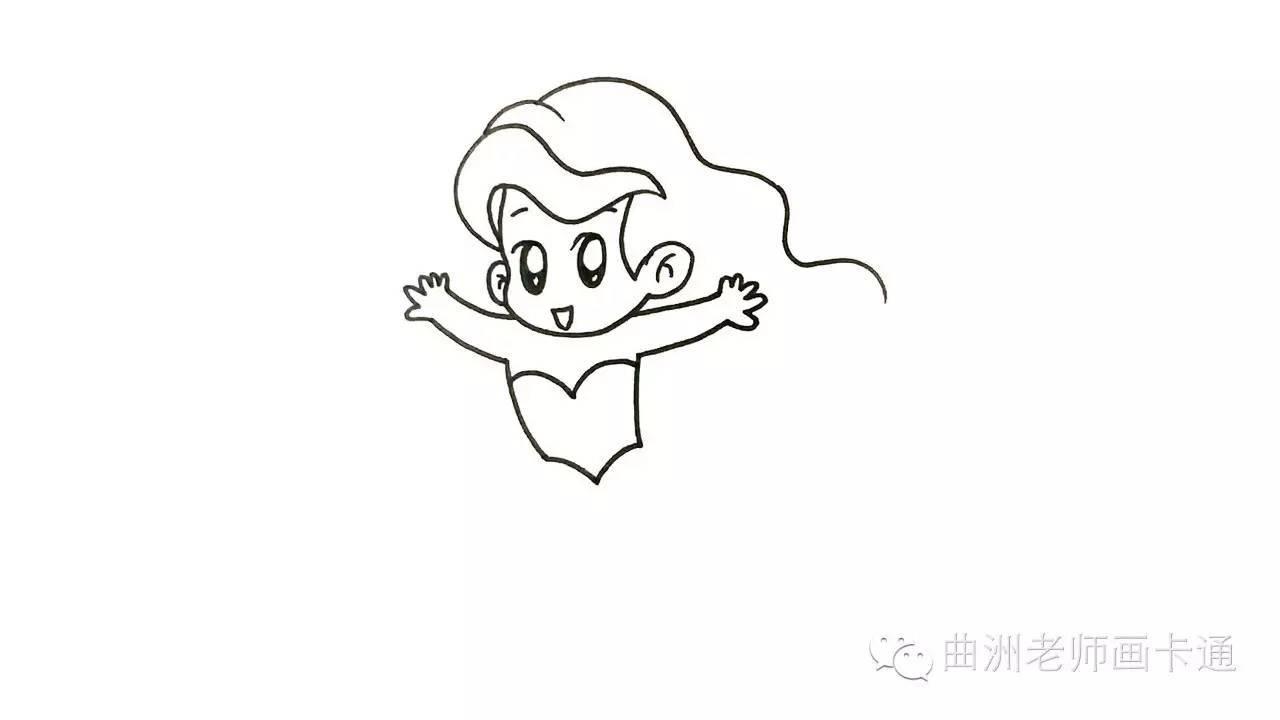 卡通画系列小美人鱼