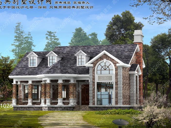 两开间二层别墅设计图展示