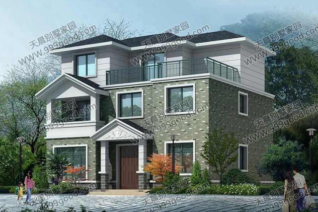 农村别墅设计图,11.5x10米现代简欧,造价23万!