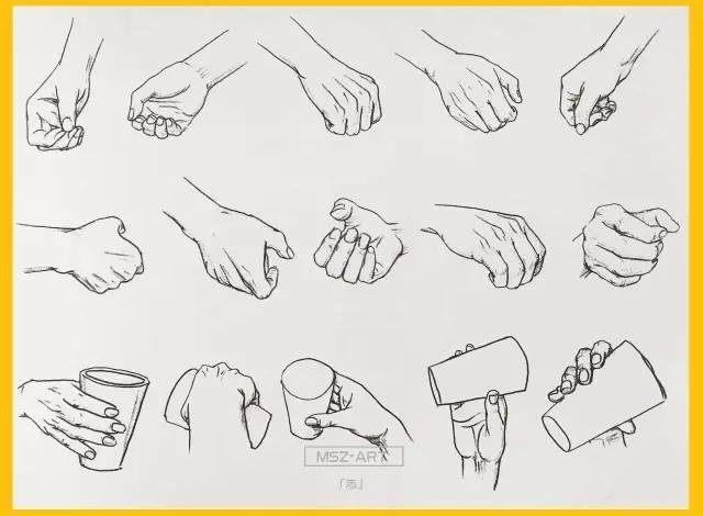 素描史上最全手,脚画法丨必须收藏!零基础学素描图片