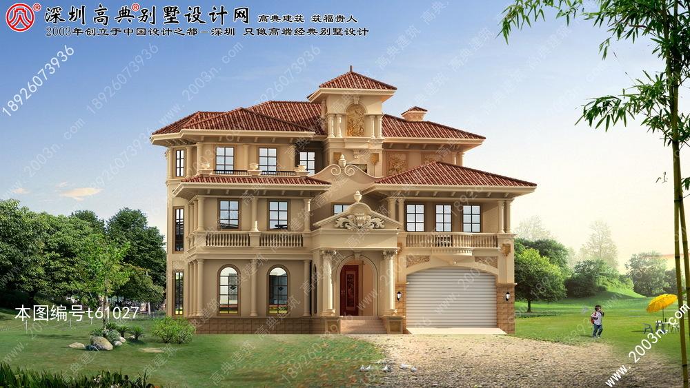 豪华别墅设计图首层261平方米