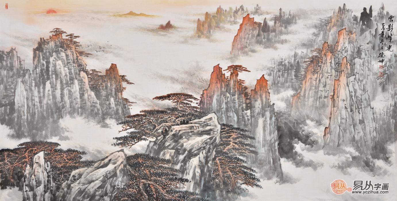 当代名家字画收藏推荐:国画大师林德坤山水画欣赏图片