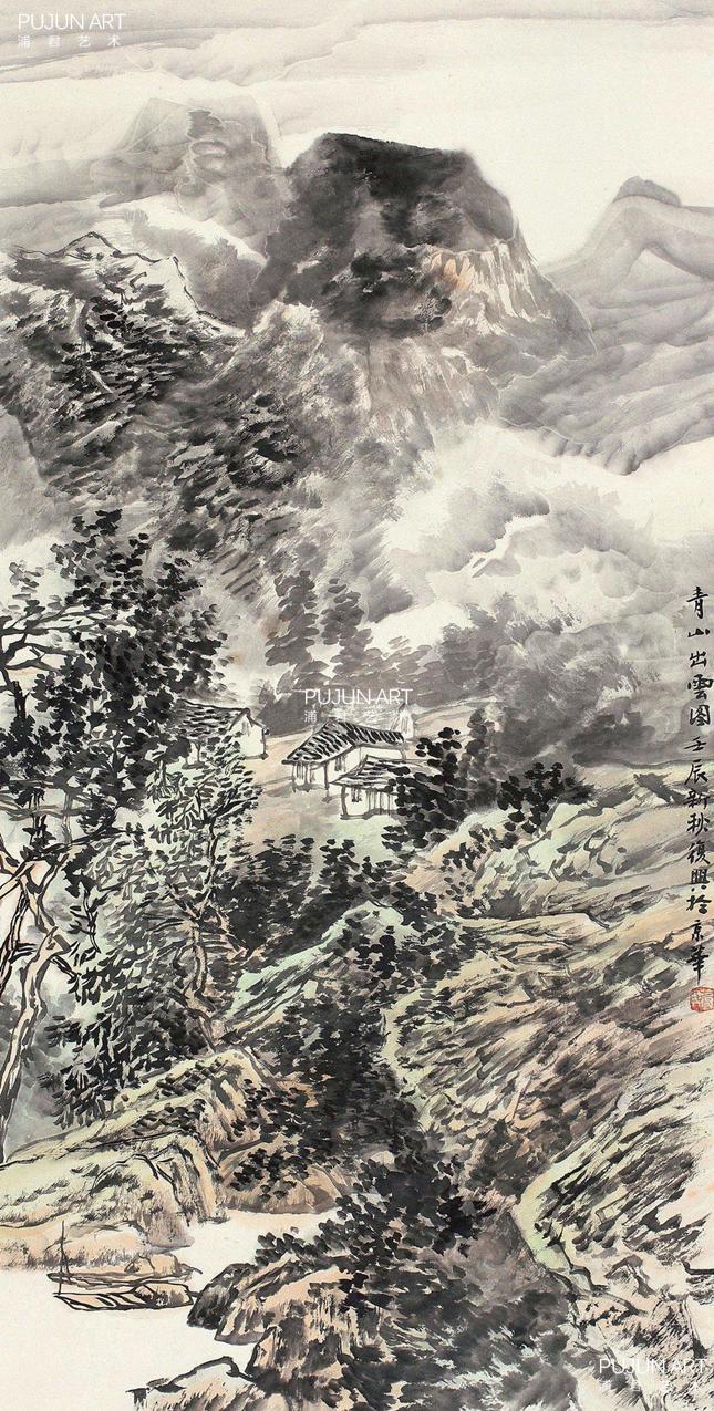张复兴山水画《山水长卷》横轴图片