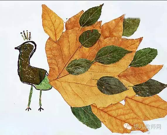 【亲子】树叶粘贴画教程